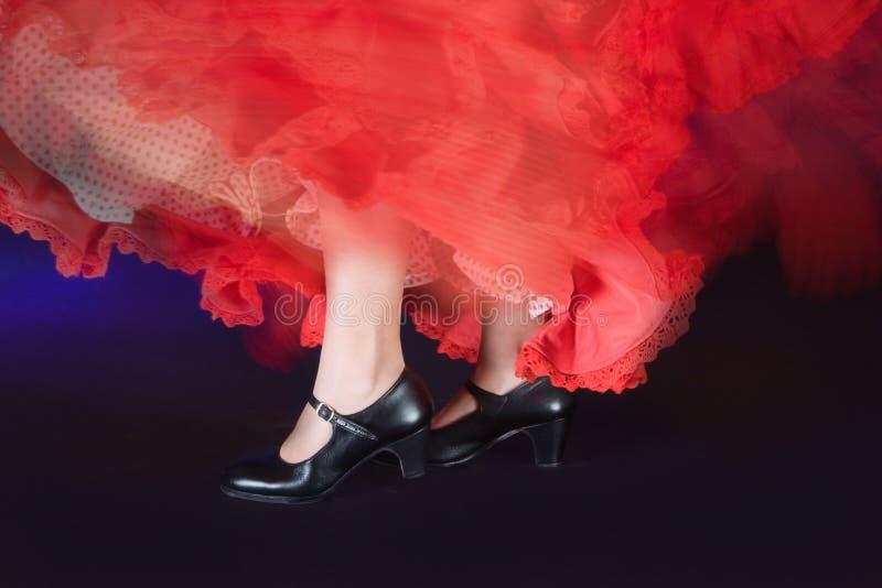 Zapatos del flamenco fotografía de archivo libre de regalías
