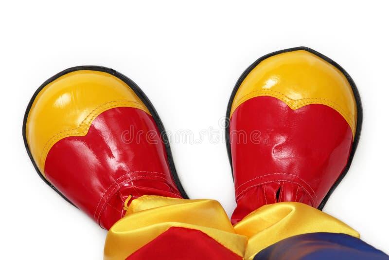 Zapatos del payaso imagen de archivo libre de regalías