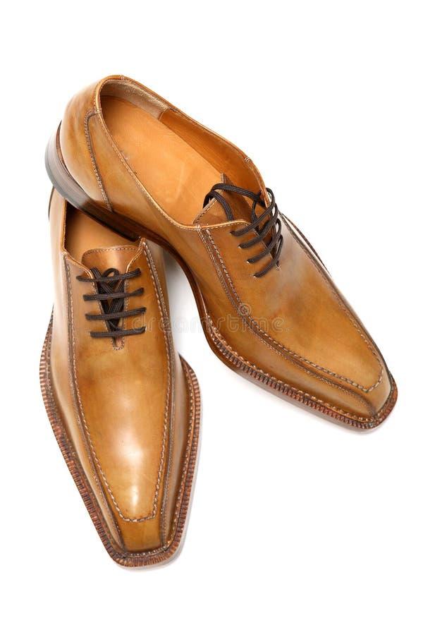 Zapatos del varón de Brown imágenes de archivo libres de regalías