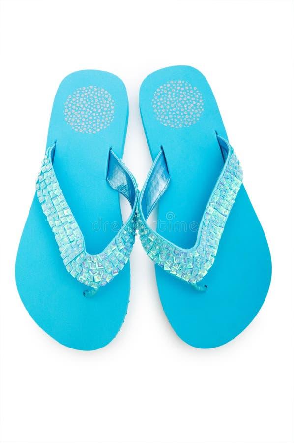 Zapatos del verano aislados imagen de archivo