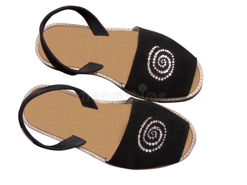 Zapatos del verano del fracaso de tirón con el camino de recortes foto de archivo