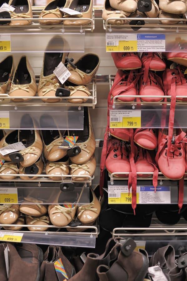 Zapatos en el supermercado foto de archivo libre de regalías