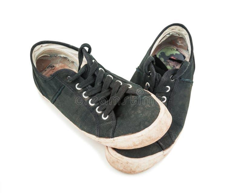Zapatos estropeados viejos imagen de archivo libre de regalías
