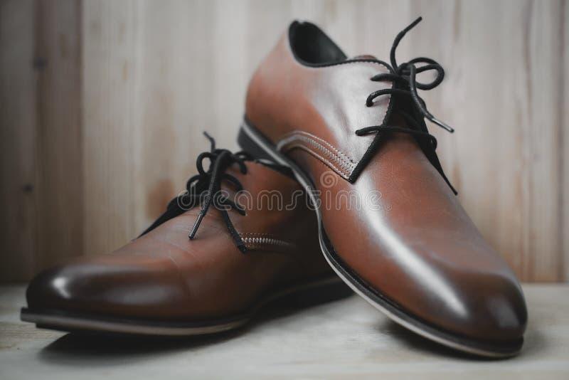 zapatos masculinos de cuero de la moda foto de archivo libre de regalías