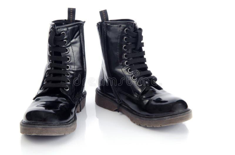 Zapatos negros largos imágenes de archivo libres de regalías