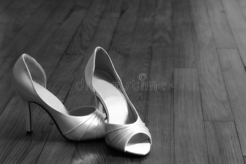 Zapatos nupciales fotografía de archivo