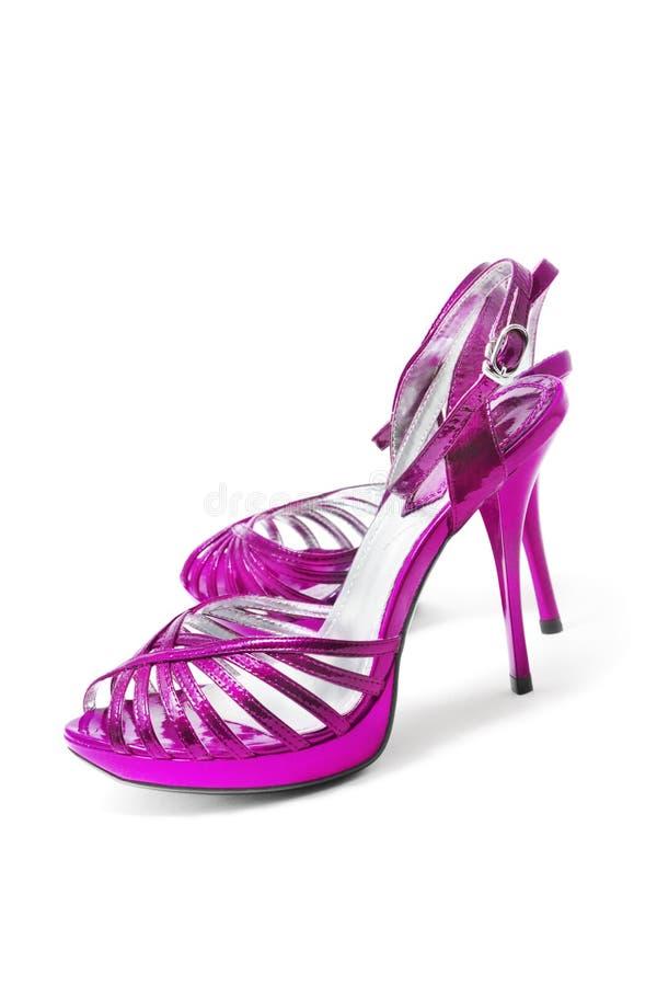 Zapatos púrpuras foto de archivo