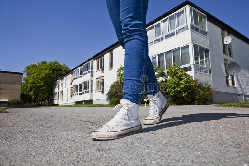 Zapatos para andar foto de archivo