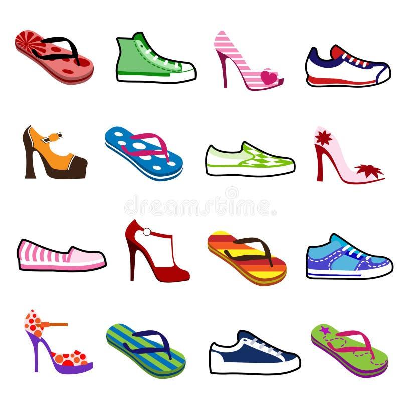 Zapatos para el hombre y la mujer stock de ilustración