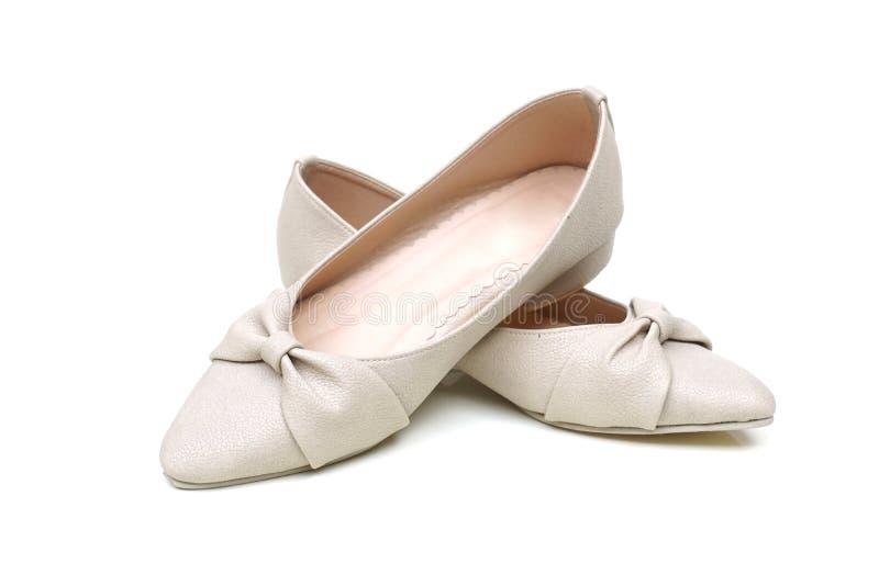 Zapatos planos de la bailarina de sexo femenino fotografía de archivo libre de regalías