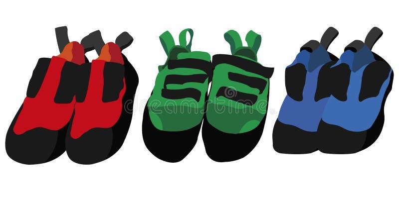 Zapatos que suben de diversos colores libre illustration