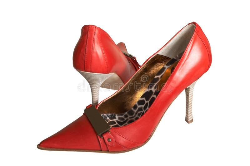 Zapatos rojos imágenes de archivo libres de regalías