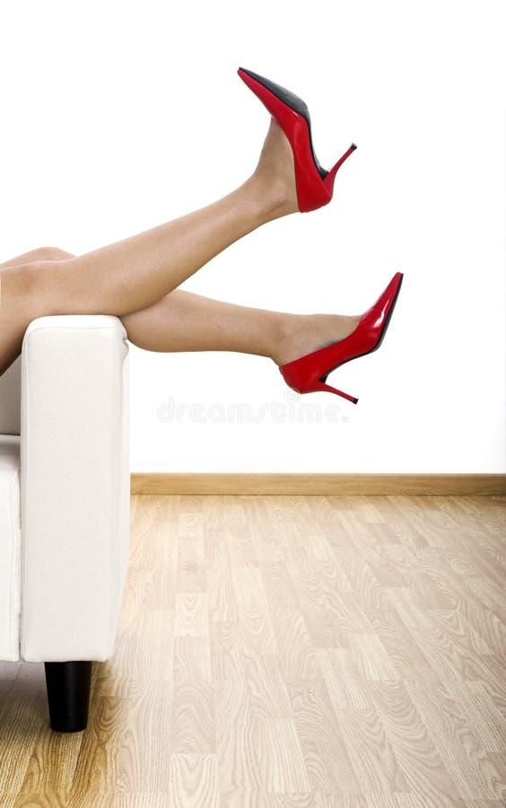 Zapatos rojos imagen de archivo libre de regalías