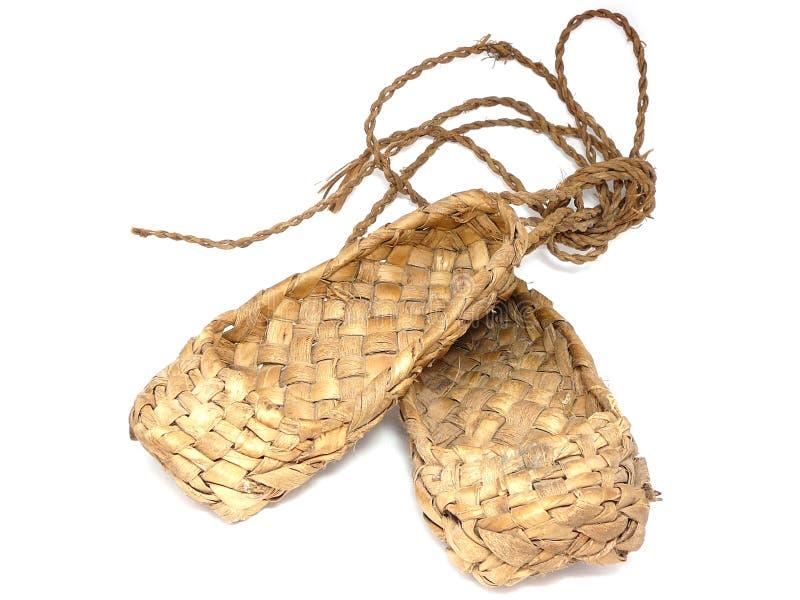 Zapatos rusos de la estopa foto de archivo libre de regalías
