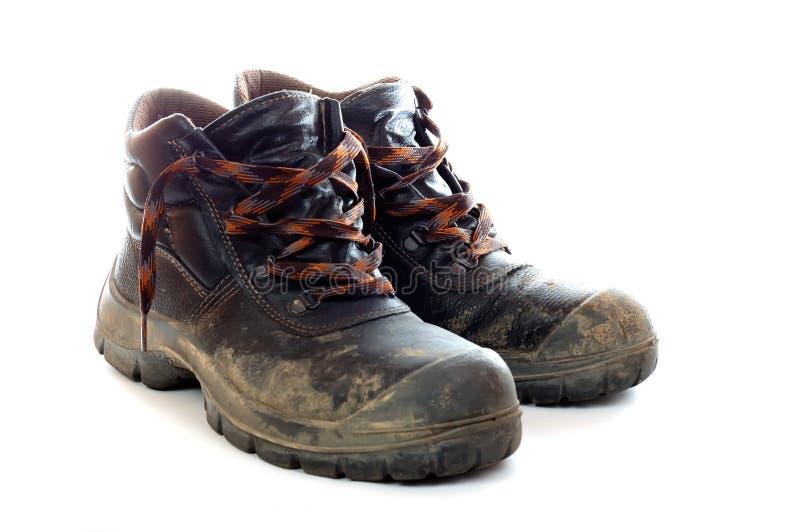 Zapatos sucios foto de archivo imagen de utilizado for Zapatos de trabajo blancos