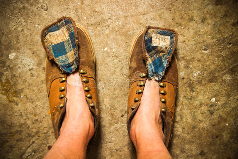 Zapatos sucios foto de archivo