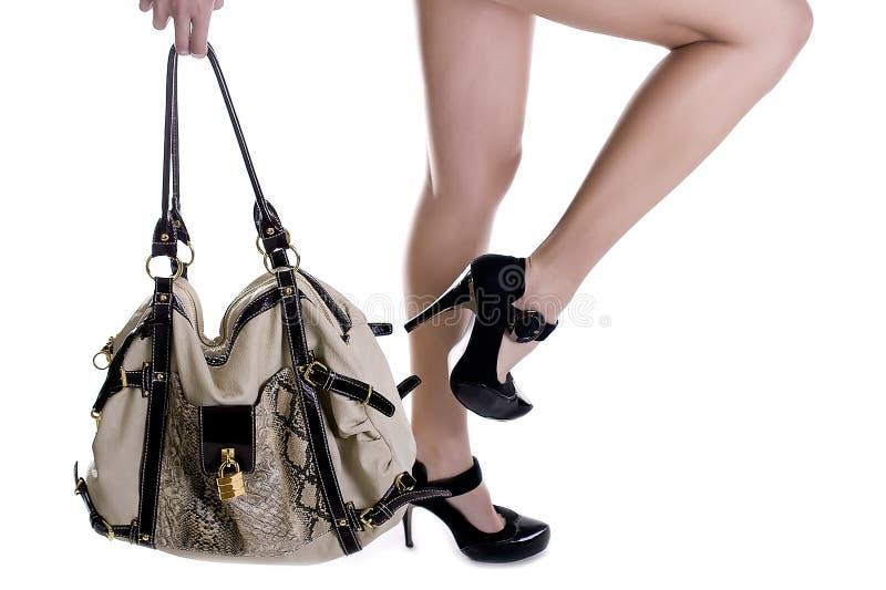 Zapatos y bolso de la manera imagen de archivo