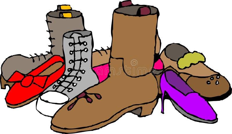 Zapatos y cargadores del programa inicial libre illustration