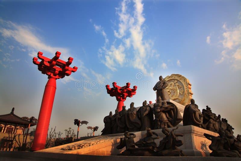 Zapfendynastie-Statue Xian-Porzellan stockfotografie