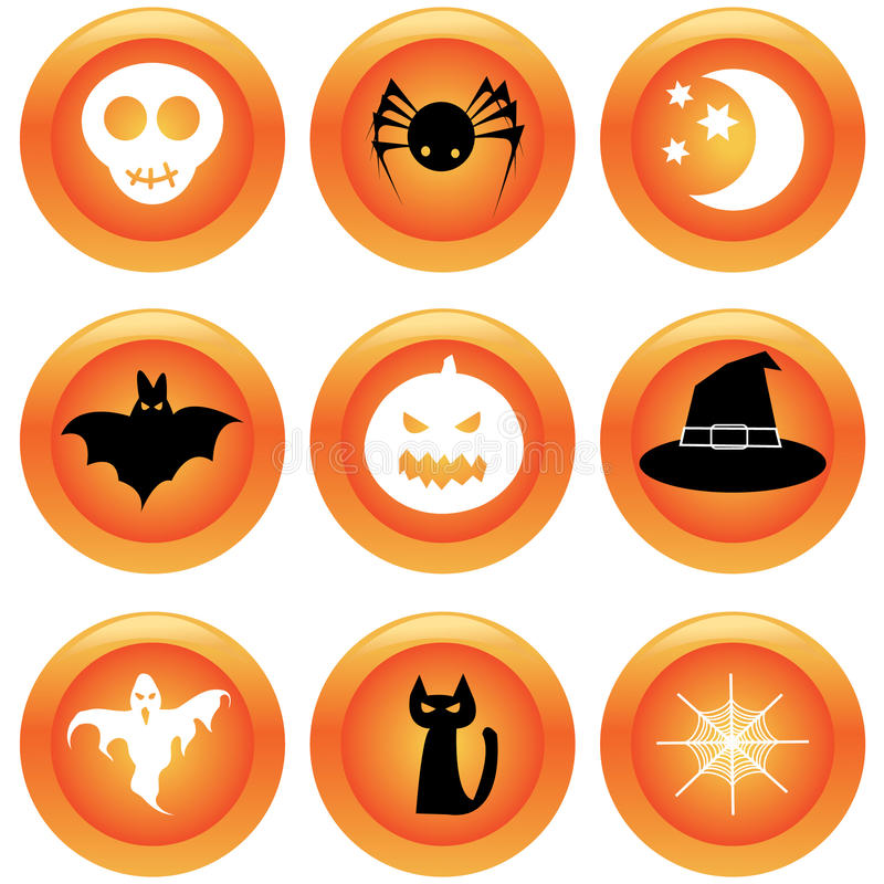 zapina Halloween set ilustracja wektor