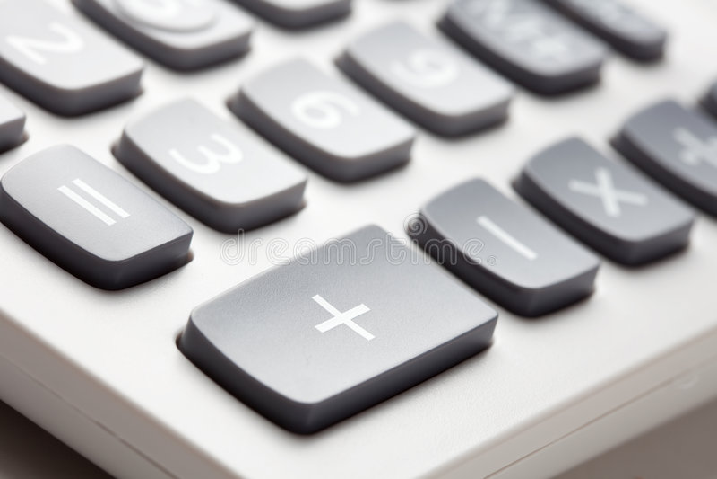 zapina kalkulatora fotografia stock