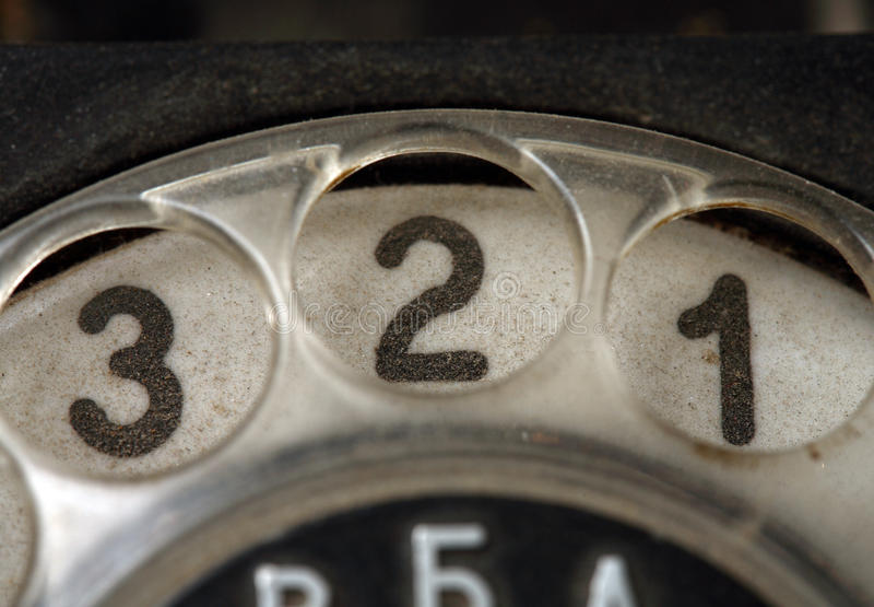 zapina starego telefon obraz stock