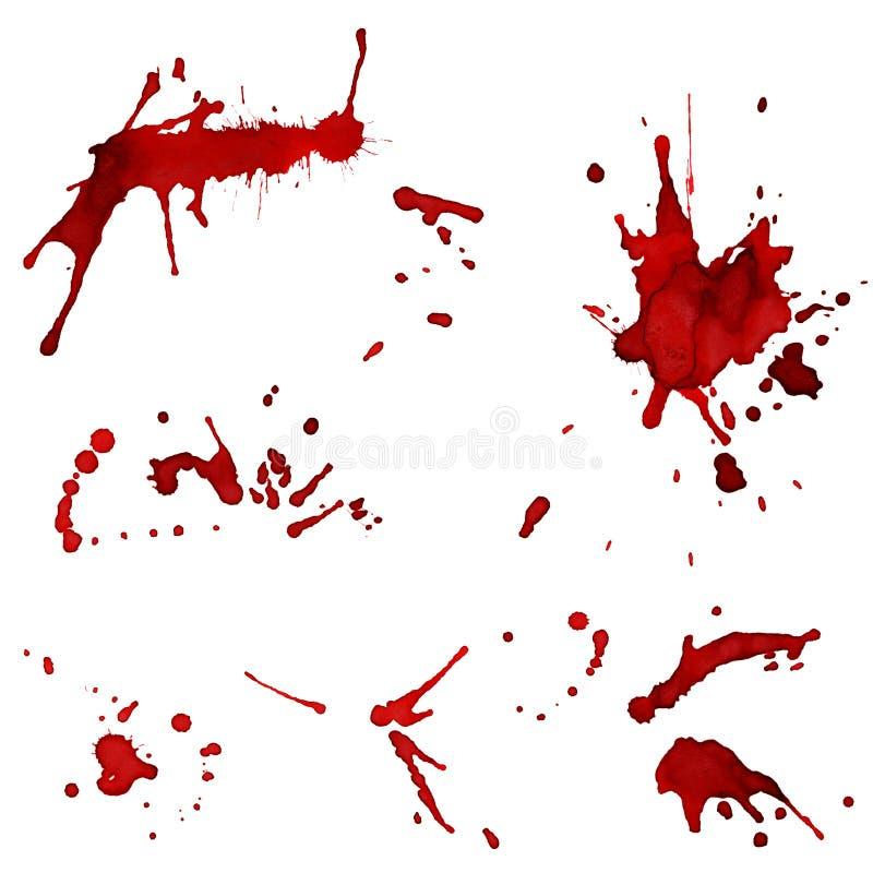 zaplamia czerwonego xxl ilustracji