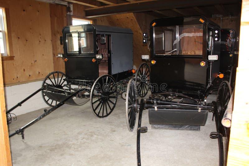 Zapluskwiony garaż przy Amish wioską, Lancaster okręg administracyjny, Pennsylwania obrazy royalty free