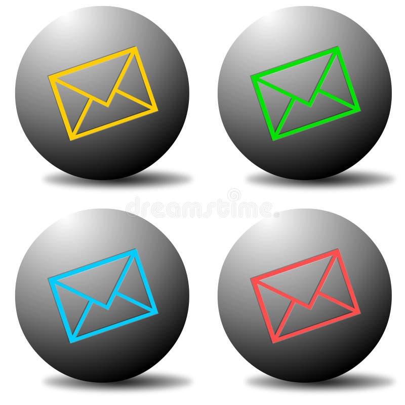 zapnij e - mail ilustracja wektor
