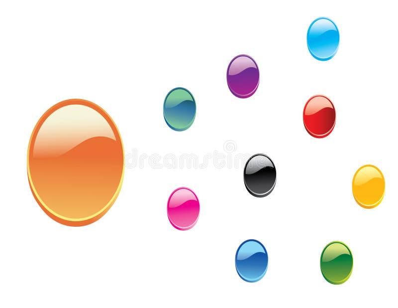 zapnij glansowaną 3 d ustaloną wektorową sieci ilustracja wektor