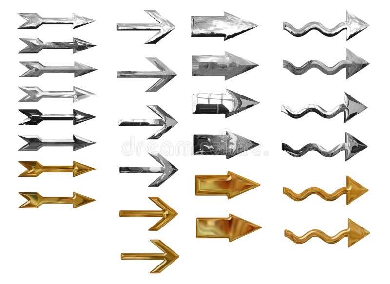 zapnij metaliczny strzała ilustracji