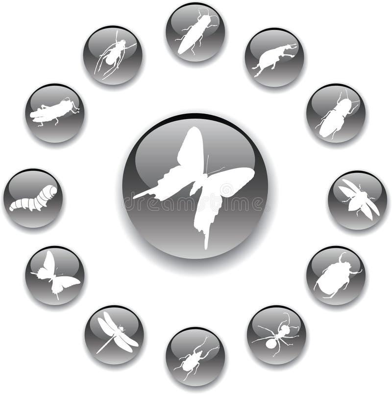 Download Zapnij owady przez 37 a ilustracja wektor. Obraz złożonej z komarnica - 6452755