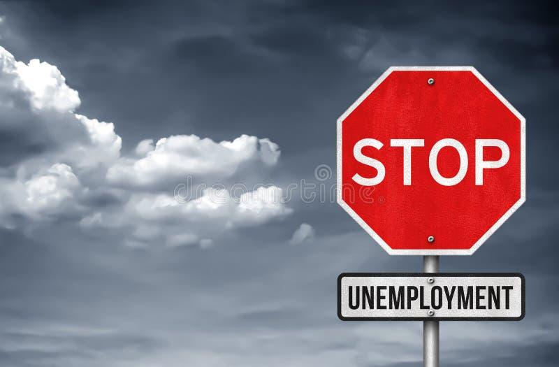 Zapobiega bezrobocie ilustracja wektor