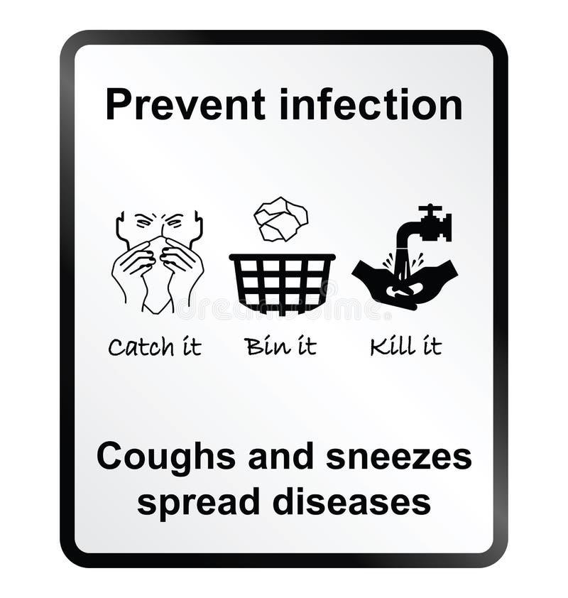 Zapobiega infekci informaci znaka ilustracji
