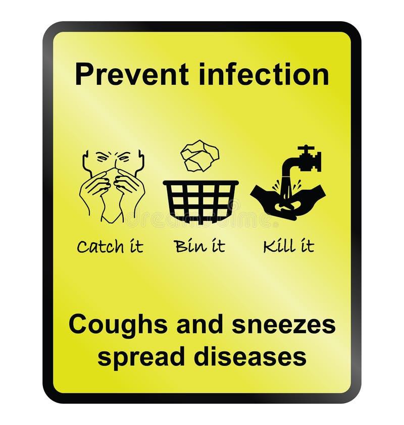 Zapobiega infekcja znaka royalty ilustracja