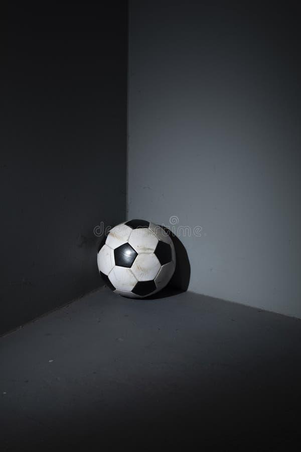 Zapominał piłki nożnej piłkę obrazy stock