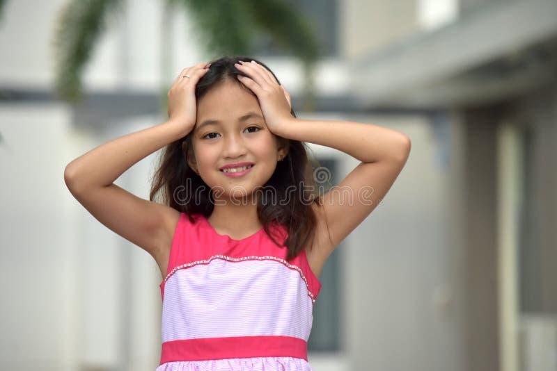 Zapominalski Piękny filipinka Tween zdjęcia stock