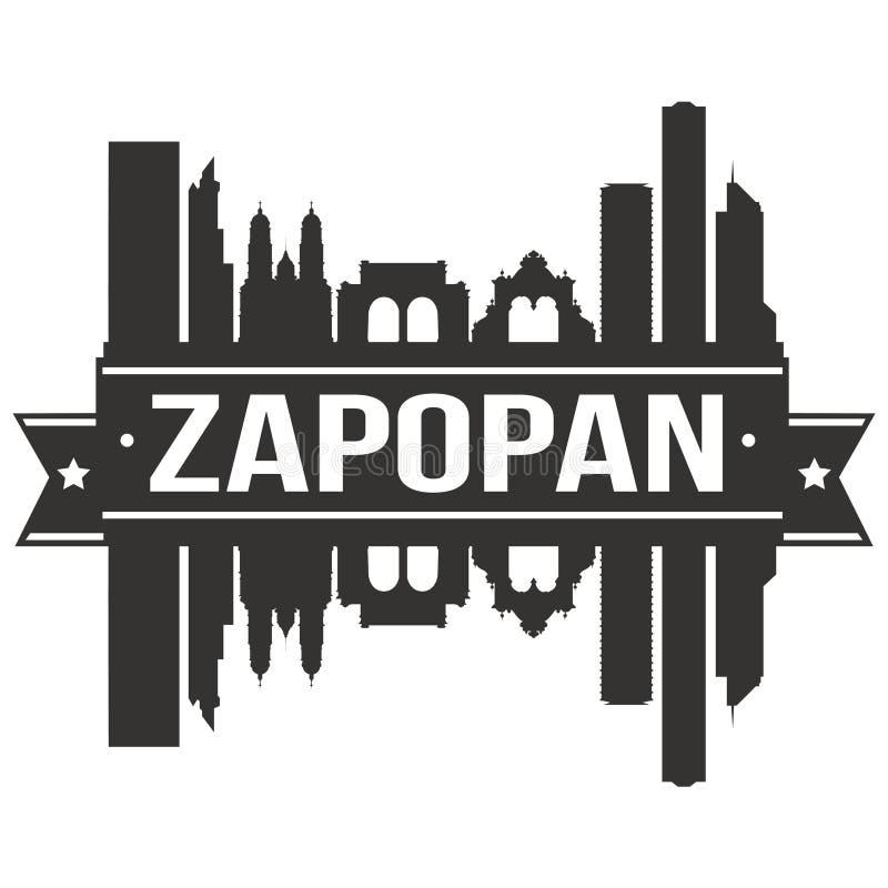 Zapopan Mexico Icon Vector Art Design Skyline Flat City Silhouette Editable Template vector illustration