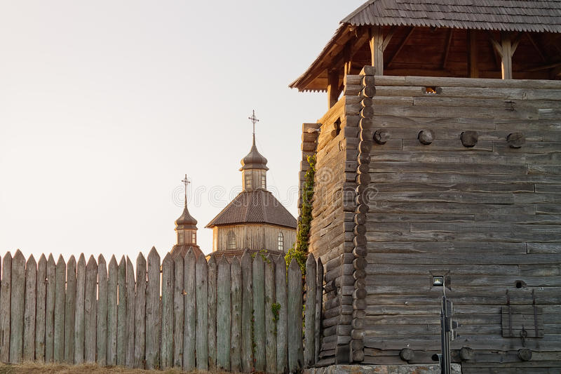 Zaporizhzhya Sich, Ukraine stockfoto