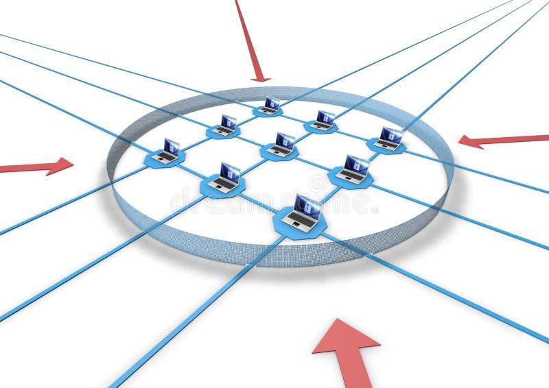 zapory sieć ilustracji