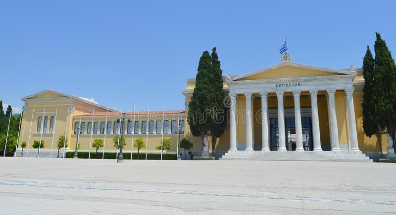 Zappeion in Athens, Greece on June 23, 2017. ATHENS, GREECE - JUNE 23: Zappeion in Athens, Greece on June 23, 2017 royalty free stock images