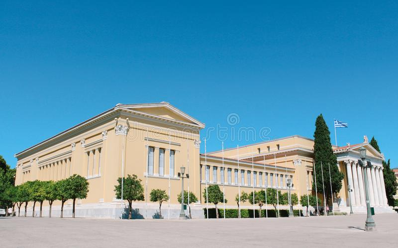 Zappeion Hall in Athen, Griechenland stockfotos