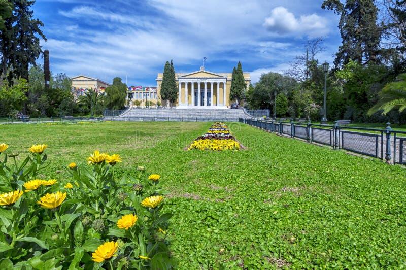 ` Zappeion Megaron ` в Афинах, Греции размещало около квадрата Syndagma стоковое изображение
