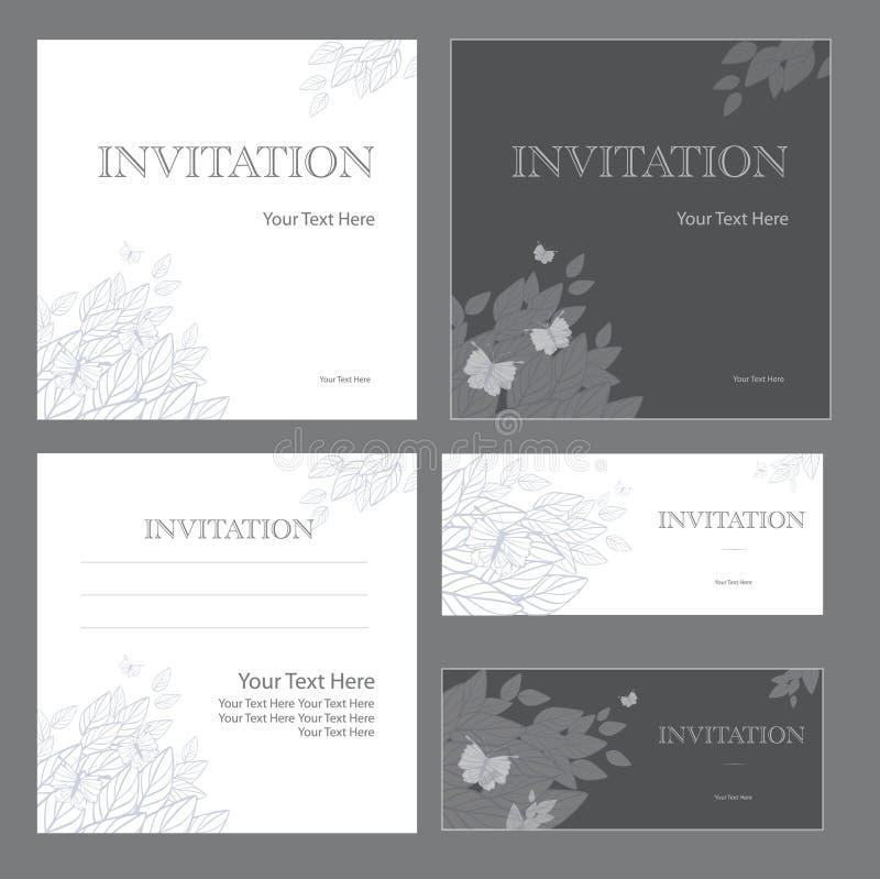 Zaproszenia royalty ilustracja