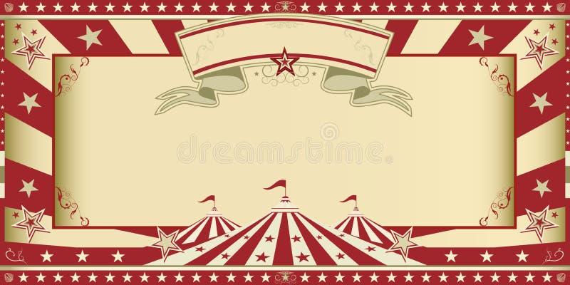 Zaproszenia cyrkowy przedstawienie ilustracji