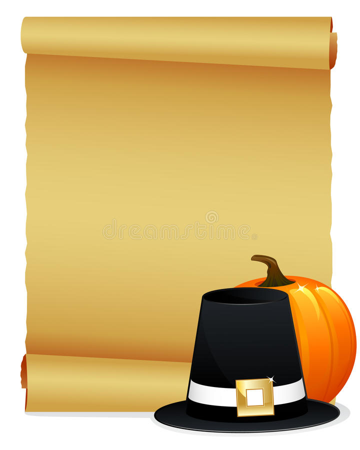 zaproszenia dziękczynienie ilustracja wektor