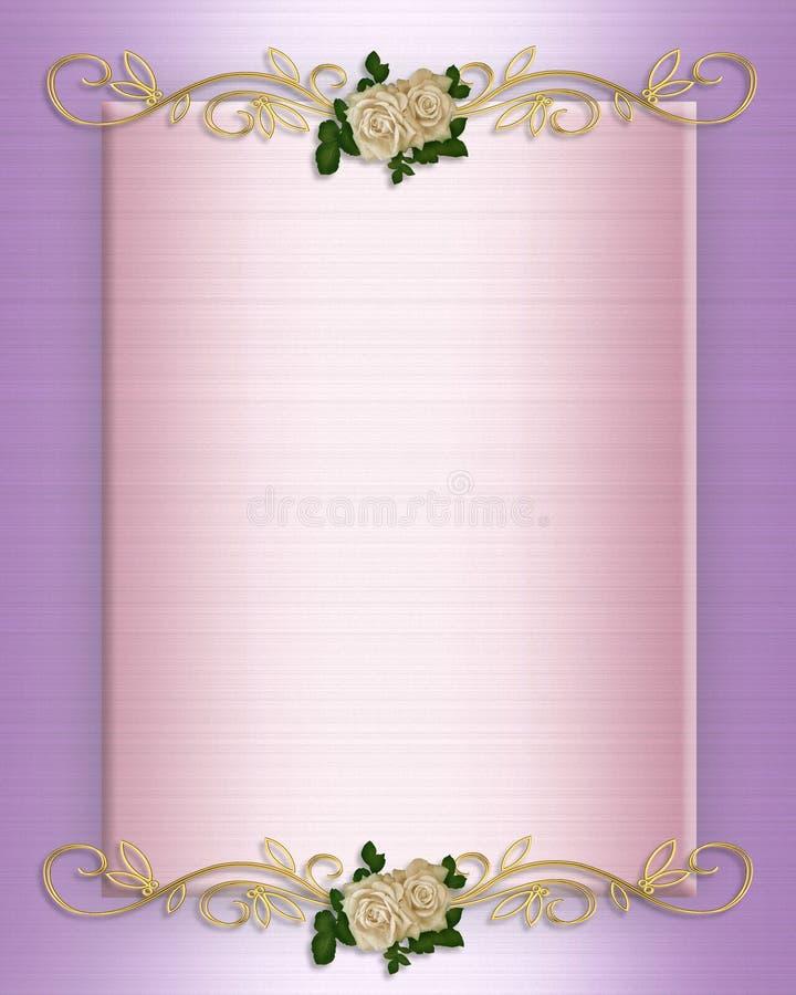 zaproszenia różowy róż atłasu ślub ilustracja wektor
