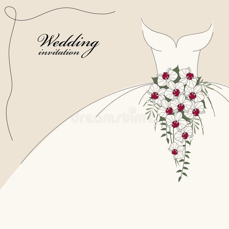 zaproszenia rocznika ślub royalty ilustracja