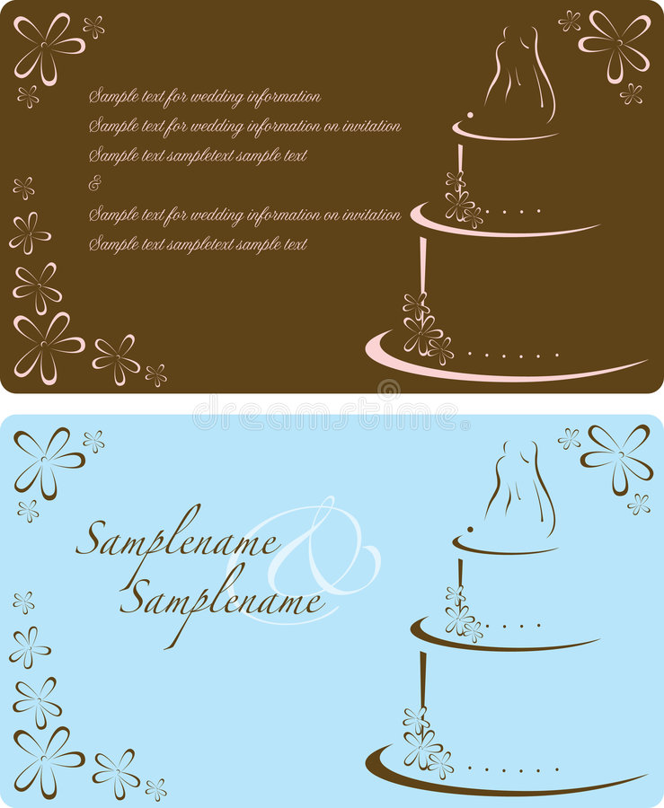 zaproszenie ślub ilustracji