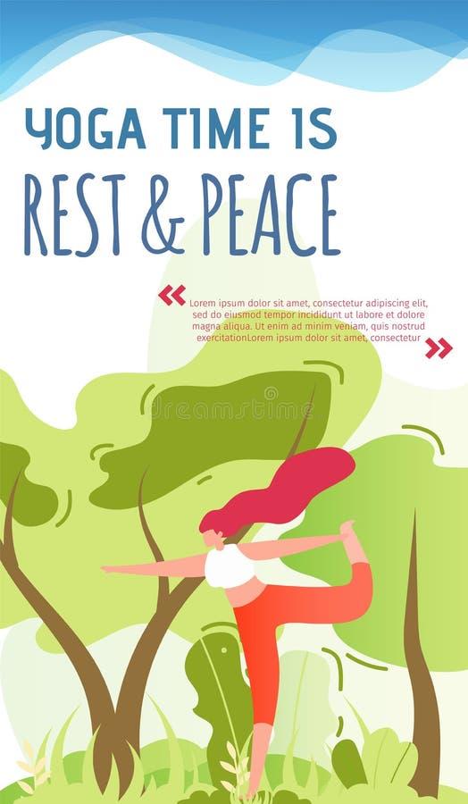 Zaproszenie dla joga Ćwiczy Plenerową Mobilną stronę ilustracji